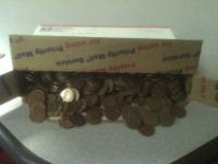 9 lbs of copper pennies